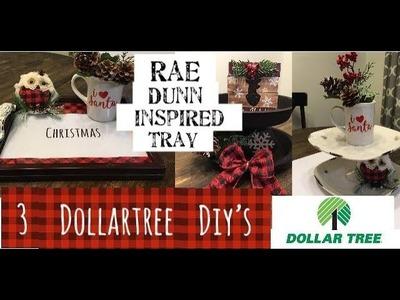 3 Different Dollartree Christmas Tray Ideas—Christmas DIYs