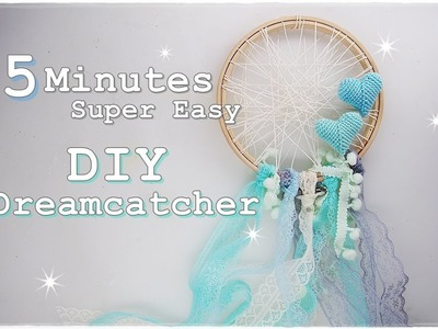 5 Minutes DIY Easy Dreamcatcher for Beginners using Embroidery Hoop ♡ Maremi's Small Art ♡