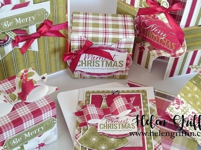 9th Day of Christmas 2018   How to Make Coordinated Gift Packaging with 123 Punch Board