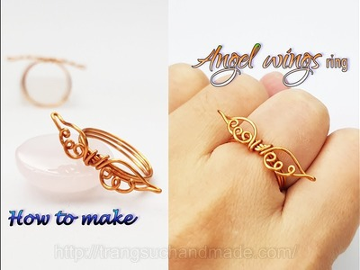 Angel wings ring- How to make simple jewelry for Christmas 433