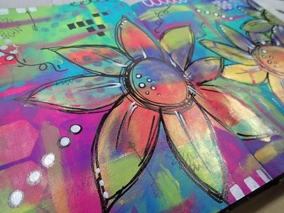 Art Journal Process page - See my true colours (Mixed Media)