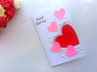 Beautiful Handmade Birthday card.Birthday card idea.
