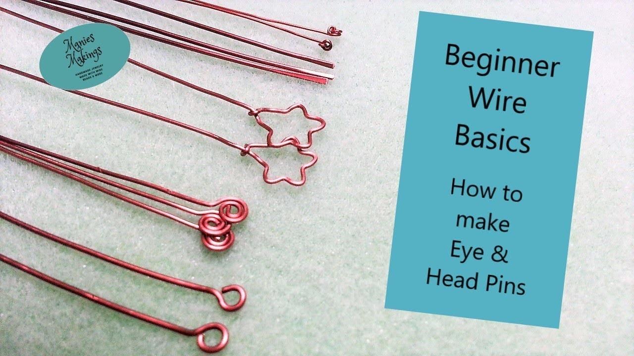 "Beginner Wire Basics - How to make Eye & Head Pins - ""Happy Halloween"""
