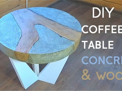 Concrete + Wood = Awesome Coffee Table