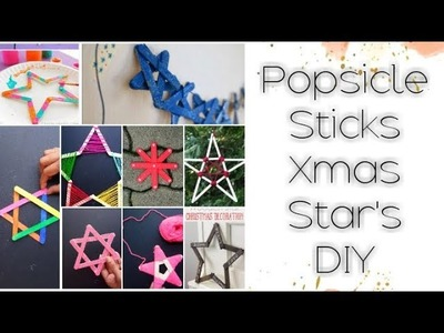 DIY: 12 Easy Christmas Star Ornament Models using Popsicle sticks Tutorial for kids