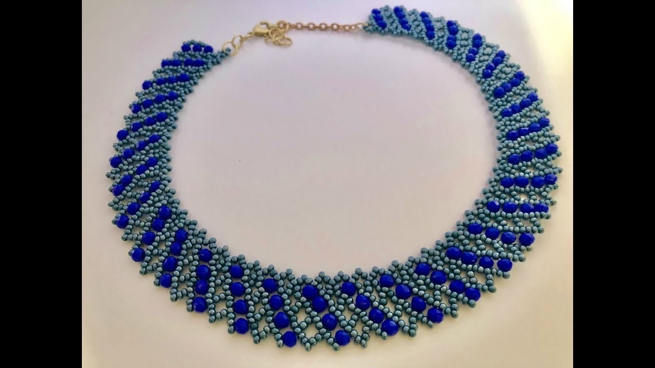 DIY Beaded Necklace for Parties ????. .How to make Beaded Necklace