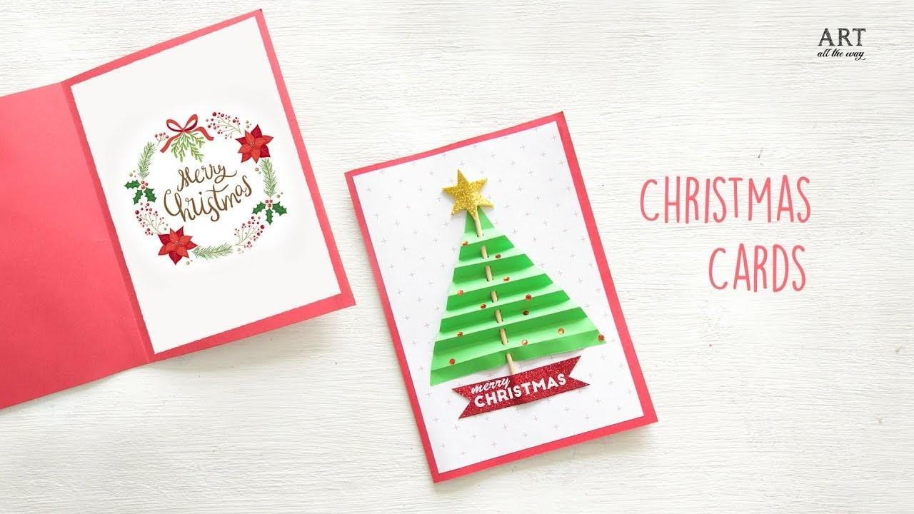 DIY Christmas Card | DIY Holiday Card Ideas | Christmas Craft