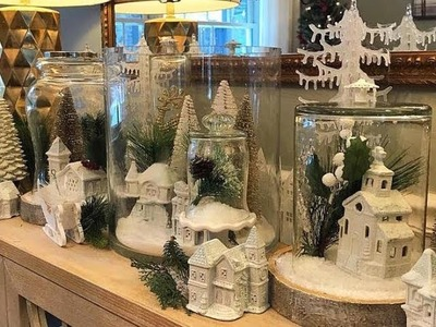 DIY Dollar Tree Winter Wonderland Mini Village