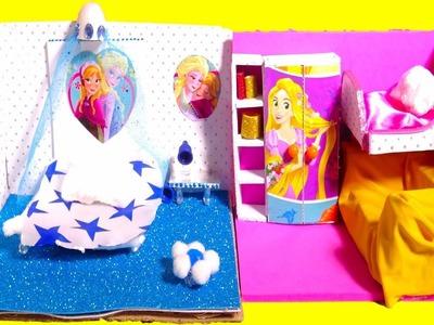 DIY Miniature Dollhouse Room ~ Frozen & Rapunzel Room Decor, Backpack