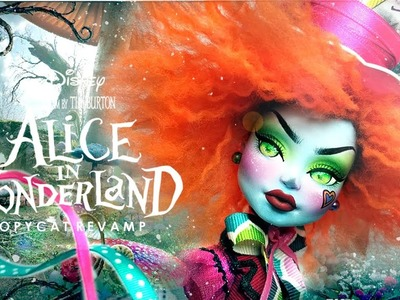 Doll Figurine MAD HATTER Alice In Wonderland | Tim Burton | Monster High Doll Repaint Custom Ooak
