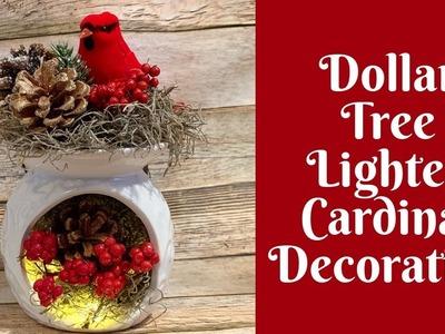 Dollar Tree Christmas Crafts: Dollar Tree Lighted Cardinal Christmas Decoration