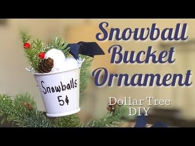 Dollar Tree  Christmas DIY | Snowball Bucket Ornament