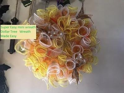 Dollar Tree~ DIY  ~  Super Easy  Mini Wreath ~