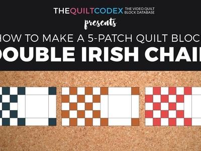 Double Irish Chain Quilt block tutorial