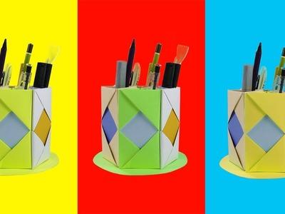 Easy DIY Pen Holder | Paper Craft Ideas | 5-Minute Crafts TV