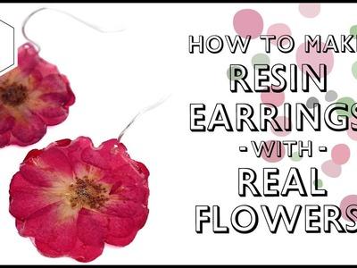 Easy to make the resin dry flower Earrings!