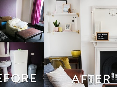 Extreme DIY Living Room Makeover on a Budget | UK Victorian Home Makeover