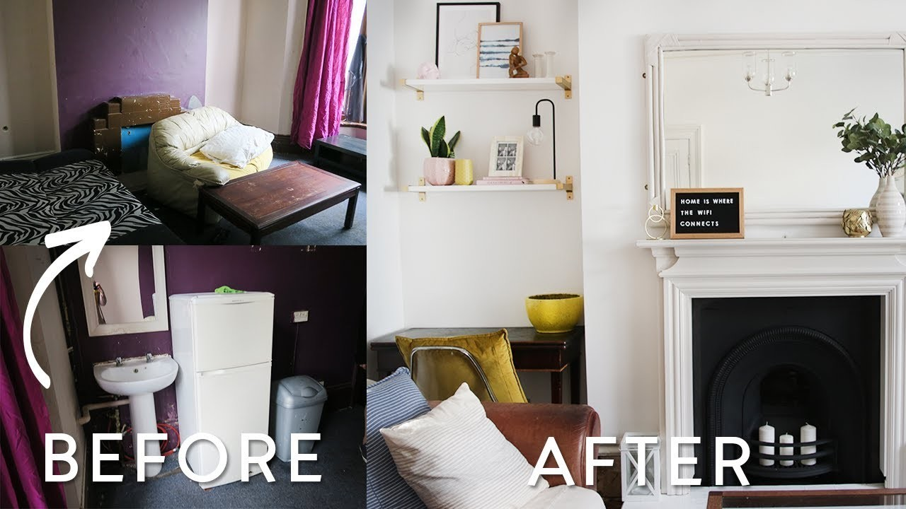 Extreme DIY Living Room Makeover on a Budget | UK Victorian Home Makeover