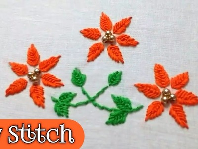 Fly Stitch hand embroidery by Ek Indian Ghar