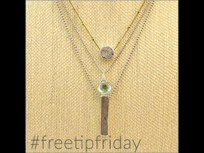 Free Tip Friday: Chain, clasps and wire.  what's it all about?