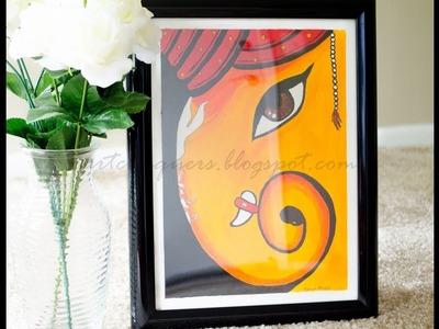 Ganesha wall painting|Acrylic painting on canvas|Acrylic painting for beginners|Wall decorating idea