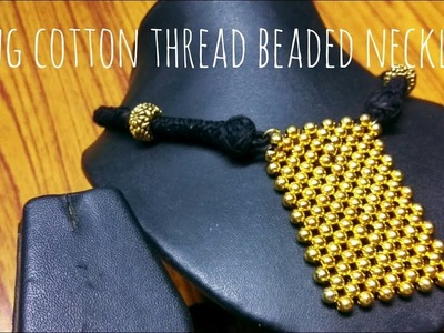 Golden pearls and Cotton thread Traditional necklace || periwinkle TV