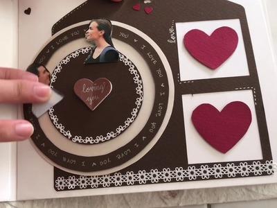 Handmade Scrapbook. album. birthday album. love coupons for boyfriend's birthday