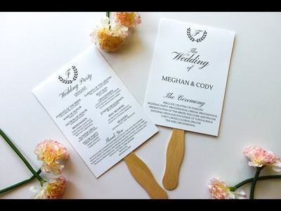 How To Assemble Wedding Program Fans