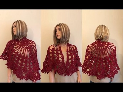 How to Crochet Capelet Inspired Shawl Pattern #785│by ThePatternFamily