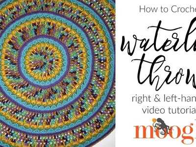 How to Crochet: Waterlily Throw (Left Handed)