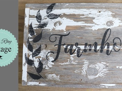 How To Freehand A Laurel Wreath on Any Farmhouse Sign