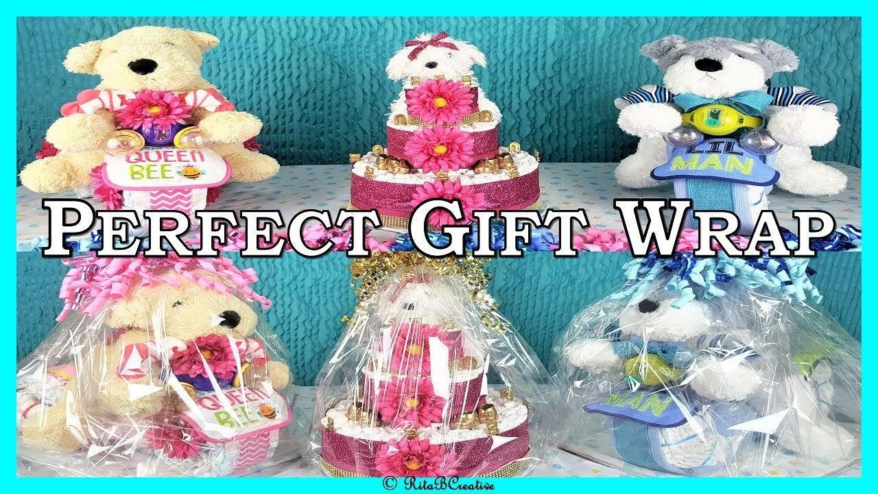 How To Gift Wrap Diaper Cakes