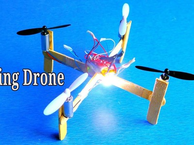 How to make a flying Drone | very easy and simple quadcopter making technology