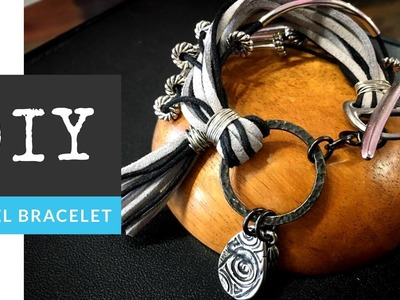 How To Make A Funky Wire Cord Tassel & Charm Bracelet