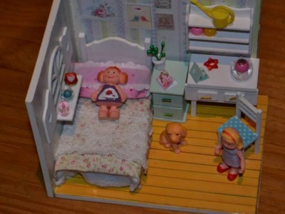 How to make a miniature cute doll house With dolls handmade