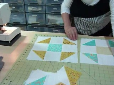 """How to make a Shoo-Fly block using 5"""" squares - Quilting Tips & Techniques 092"""