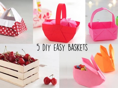 How to make Basket | 6 Easy DIY Basket | Christmas Craft Ideas