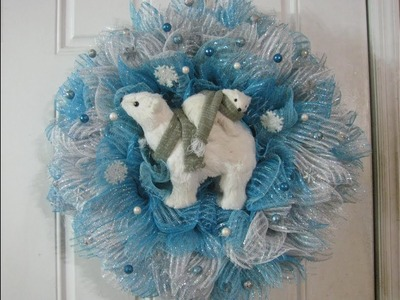 How to make Carmen's, Christmas polar bear Wreath