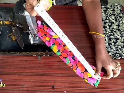 How To Make Designer Fabric Purse At Home    DIY Fabric Purse With Old Cloth BY MANA VANTALU