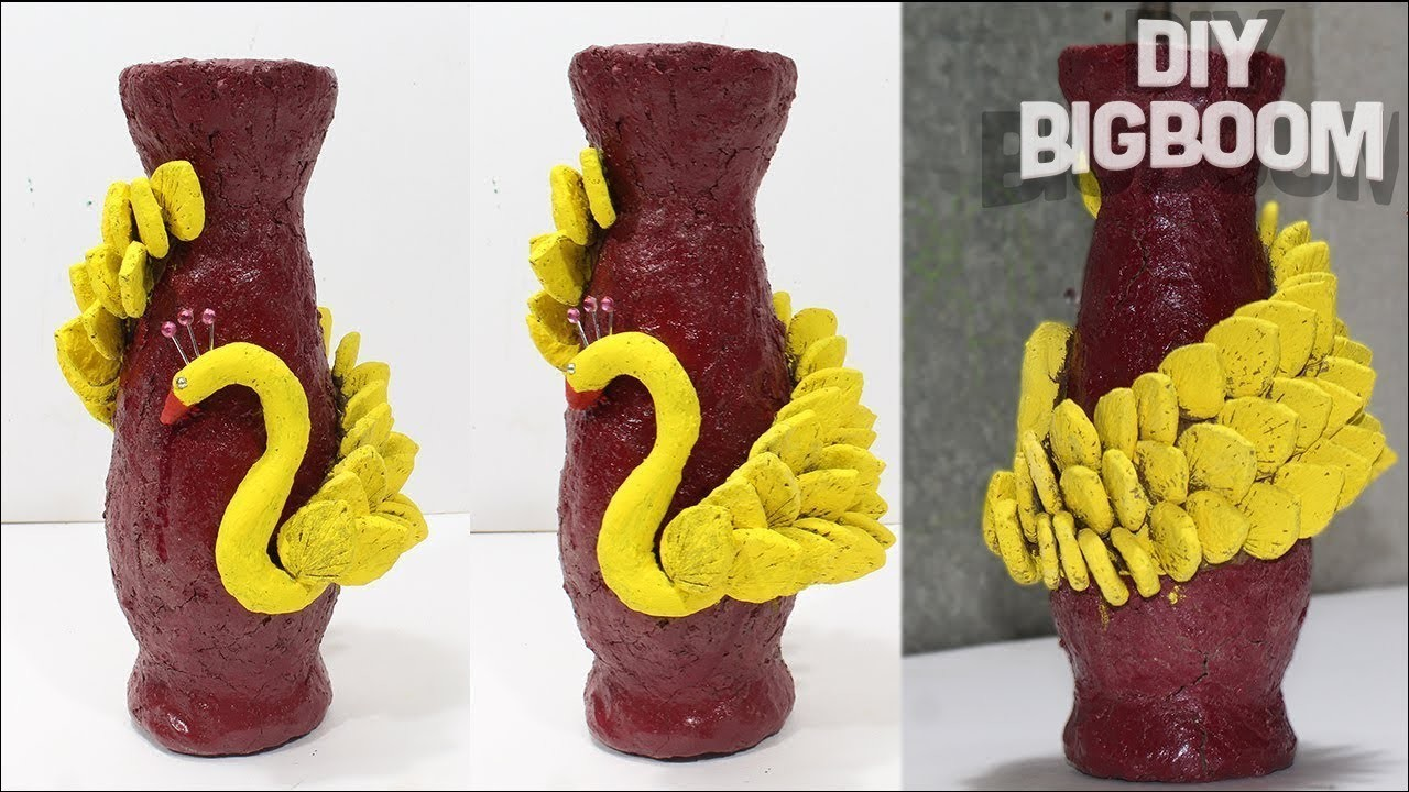 How to make flower vase with clay (Engineering Clay) | DBB