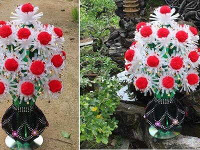 How to make Flower Vase with wool\foam sheet\canvas (guldasta,new desing)