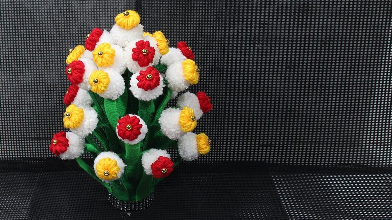 How to make Flower Vase with Wool (Best Idea 2018) | 10 | DBB