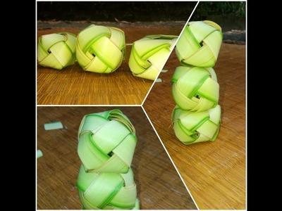 How to make Palm ball(coconut tree leaf)