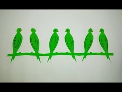 How to make paper cutting bird chain