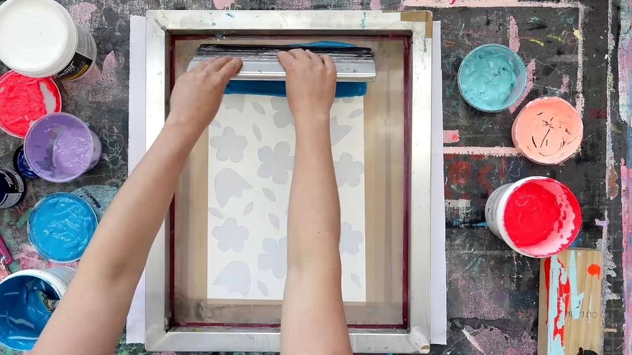 How to Screen Print Simply with HOME-WORK and Permaset inks