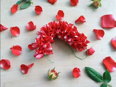 How to String Rose Petals garland   Easy Method to string Red Rose Petals garland