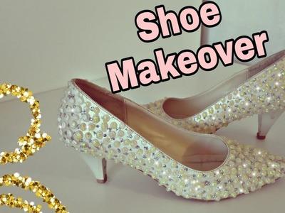 #Howtomake, #shoemakeover  Shoe Makeover. Super Easy makeover for simple shoes :