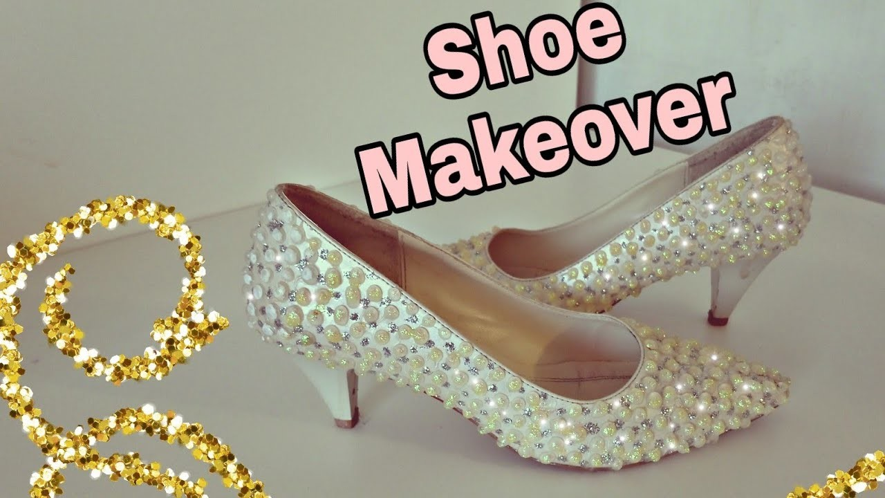 #Howtomake, #shoemakeover  Shoe Makeover. Super Easy makeover for simple shoes :