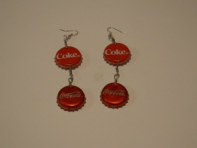 Jewelry Tutorials: Episode 20: Coca Cola Bottle Cap Earrings