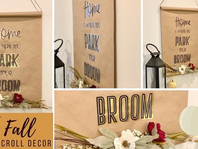 Kraft Scroll DIY | Farmhouse Halloween Wall Decor | Quick & Easy | Ashleigh Lauren